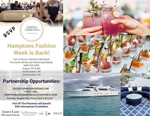 hamptons fashion week postcard