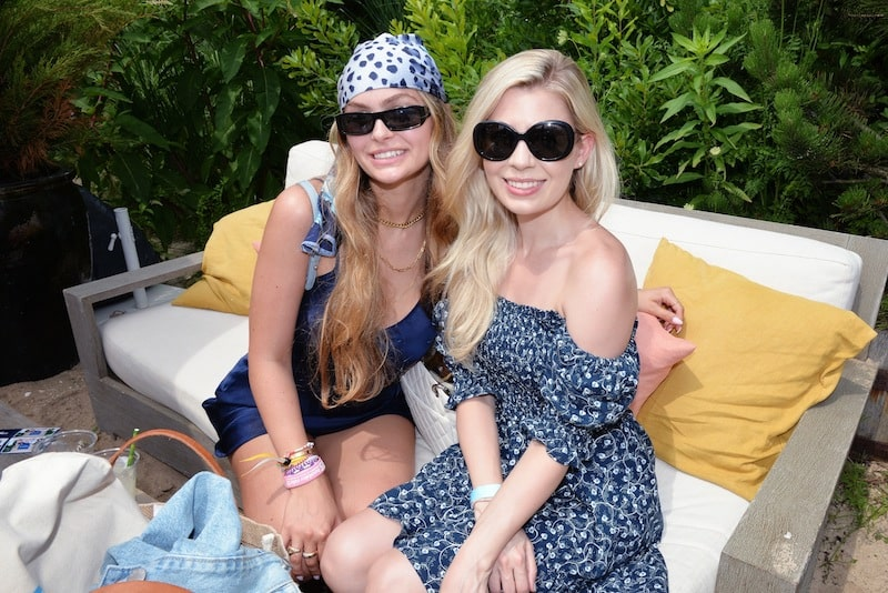 guests at sherry shoe event in montauk blonde girls hamptons