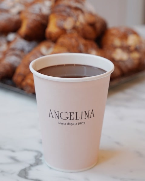 angelina paris famous hot chocolate cup