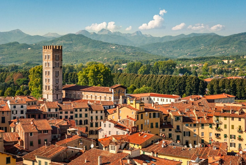 lucca italy scenic view beautiful tuscany