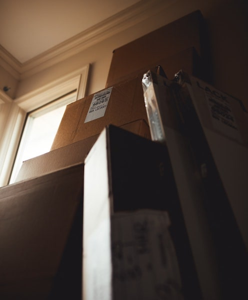 moving storage boxes in home