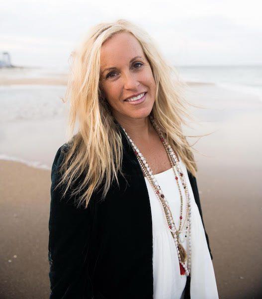 sarah vie on the beach tranquil serene black cardigan reiki healer