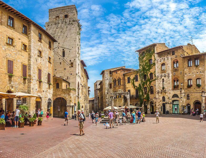 italy beautiful towns of tuscany San Gimignano