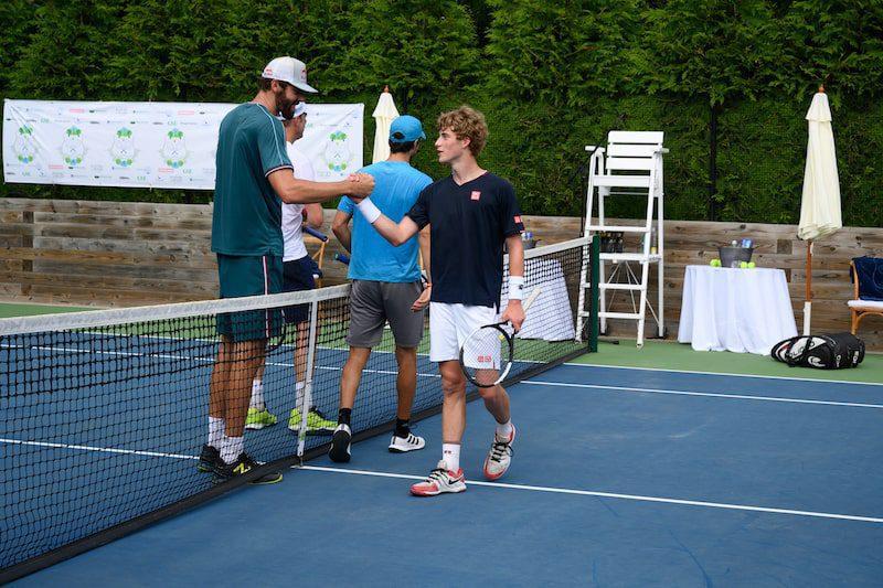 tennis players hamptons summer classic game new york