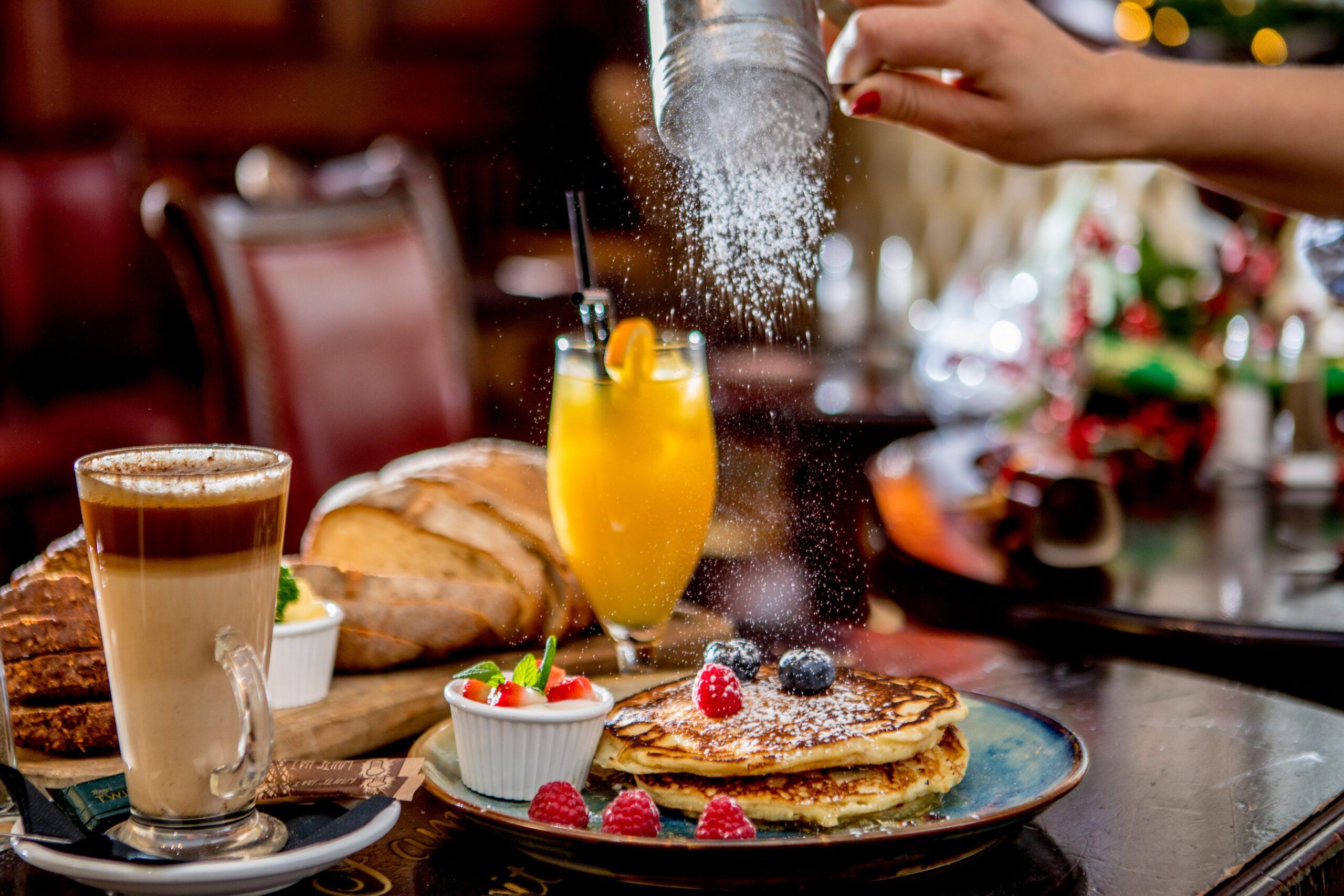 O'Neill's bar Dublin breakfast brunch pancakes orange juice