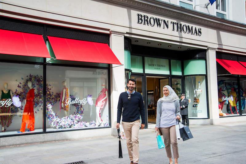 brown thomas grafton street couple shopping