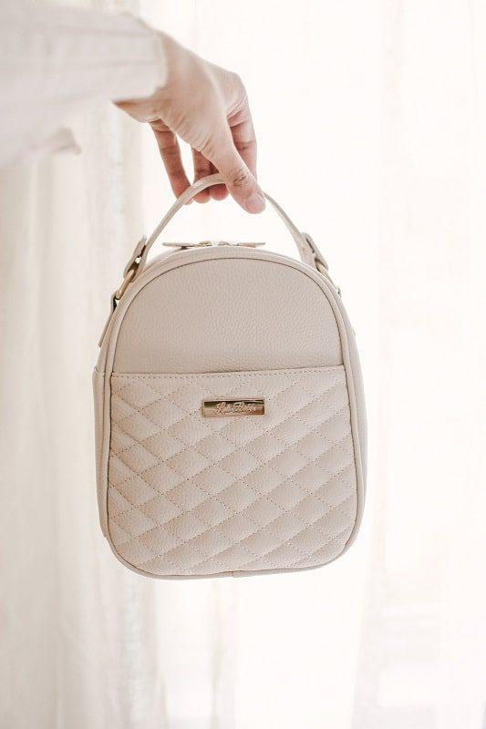 monaco Snack bag pearl white