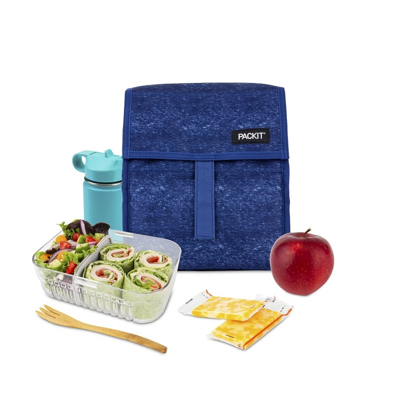 lunch bag navy blue heather back to school packIt