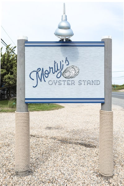 morty's oyster stand sign entrance napeague hamptons