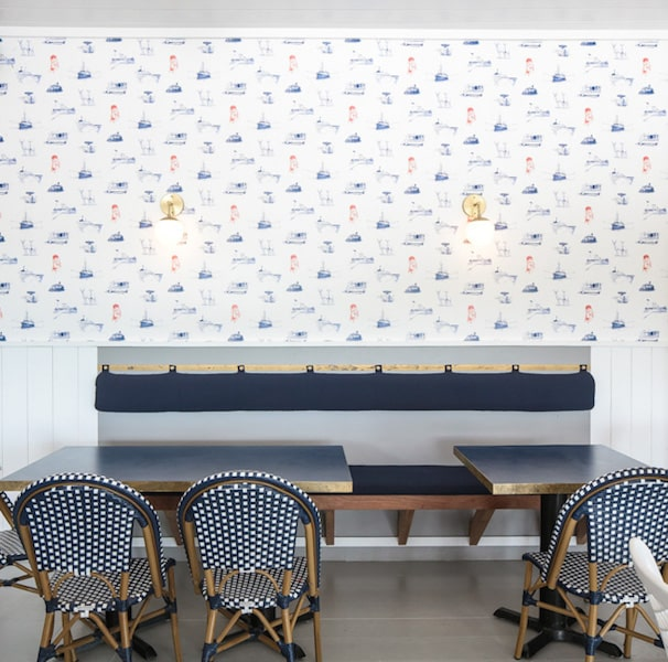 morty's indoor dining wallpaper hamptons restaurant