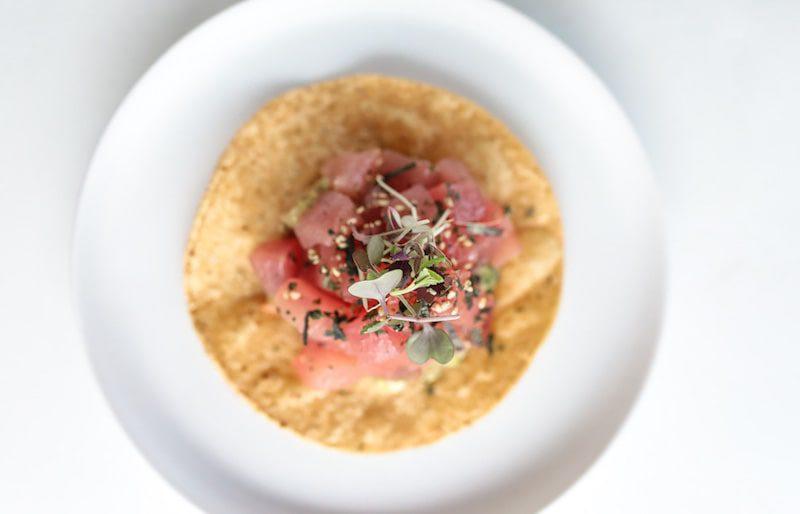 morty's yellowfin tuna tostada