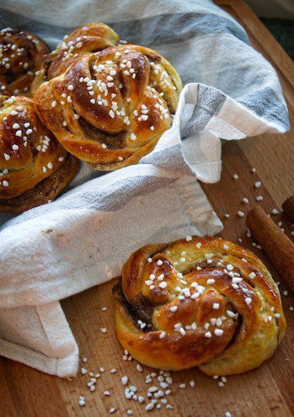 homemade pretzel rolls knots in basket