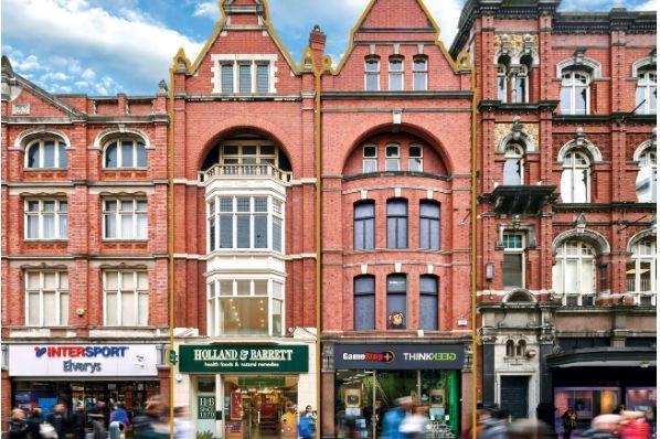 henry street shopping district dublin ireland