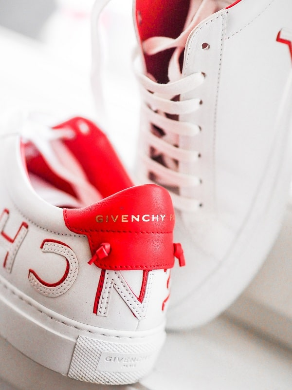 givenchy red white luxury sneakers