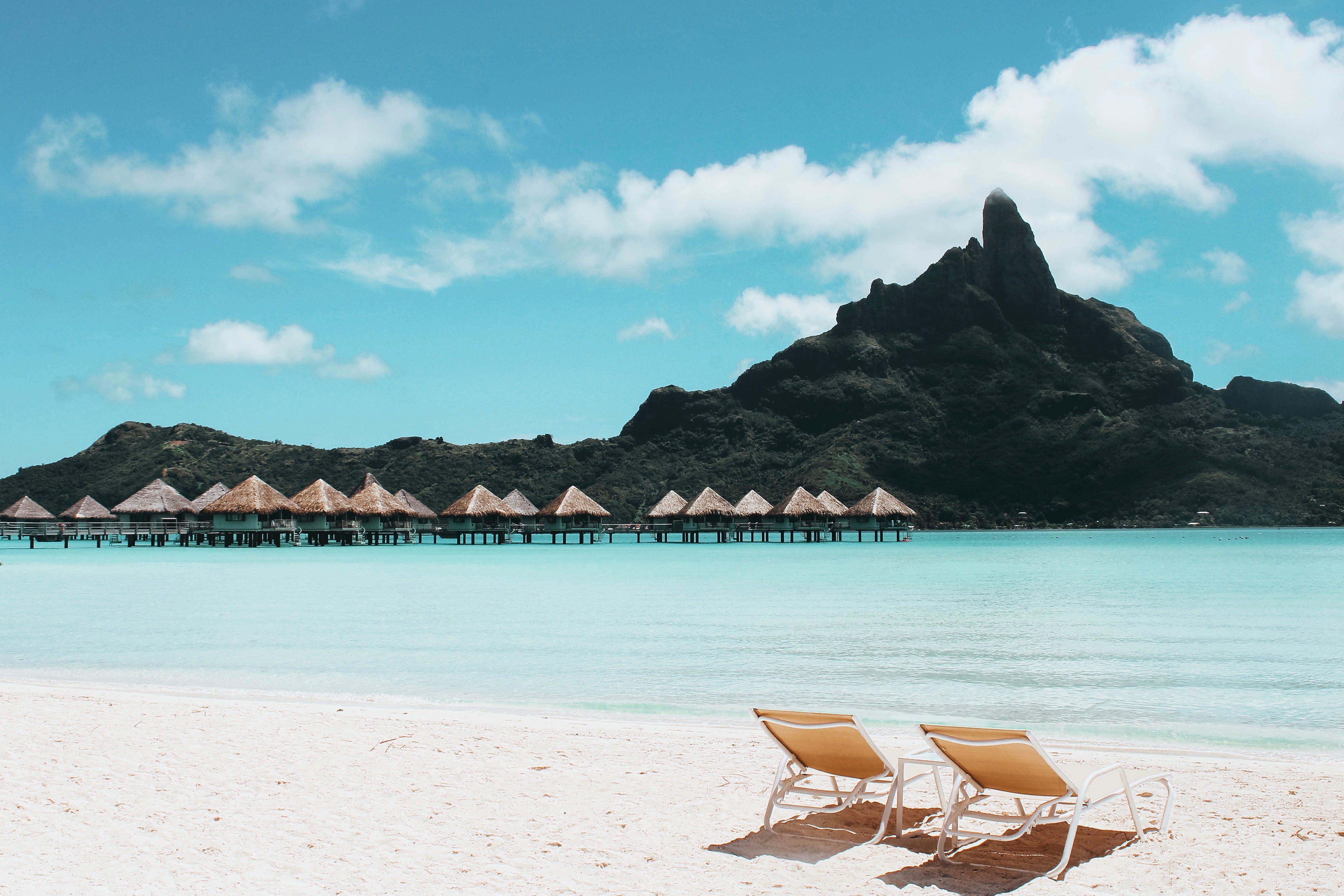 Beautiful Caribbean beach resort white sand