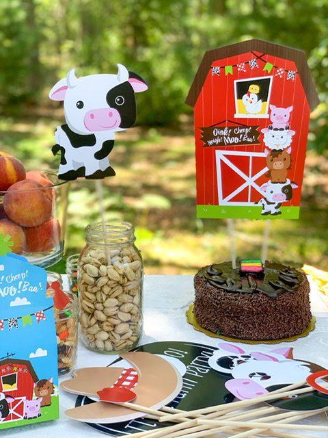 big dot of happiness farm animal party decor table
