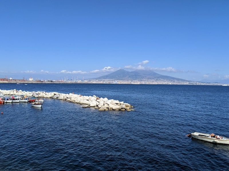mount vesuvius volcano view from Naples