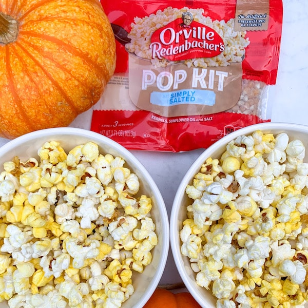 orville popcorn lightly salted with pumpkins