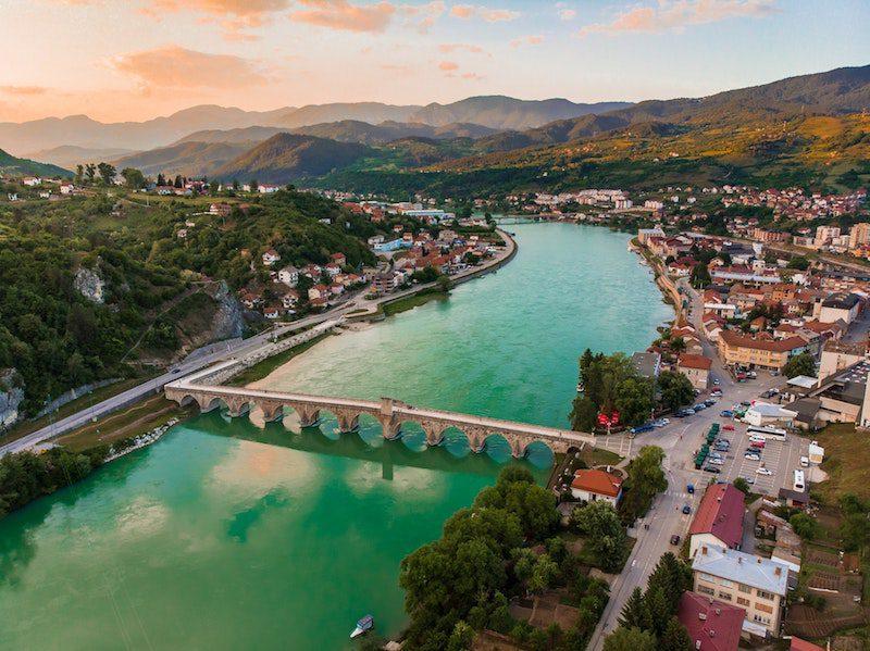Bosnia herzegovina aerial beautiful photo