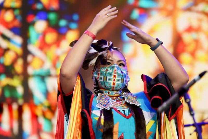 Wisdom Indian dancers farm aid festival concert