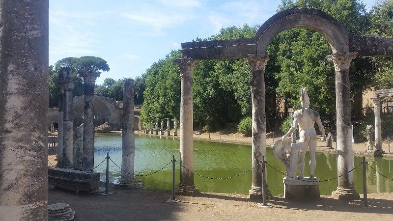 tivoli italy ruins history naked statue