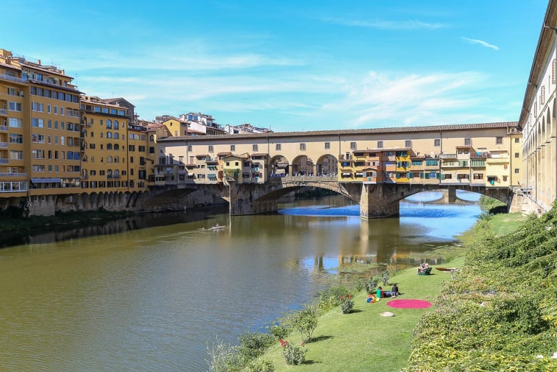 florence italy river bridge beautiful