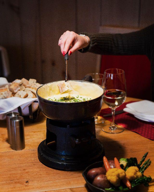fondue swiss chalet sonnenalp vail