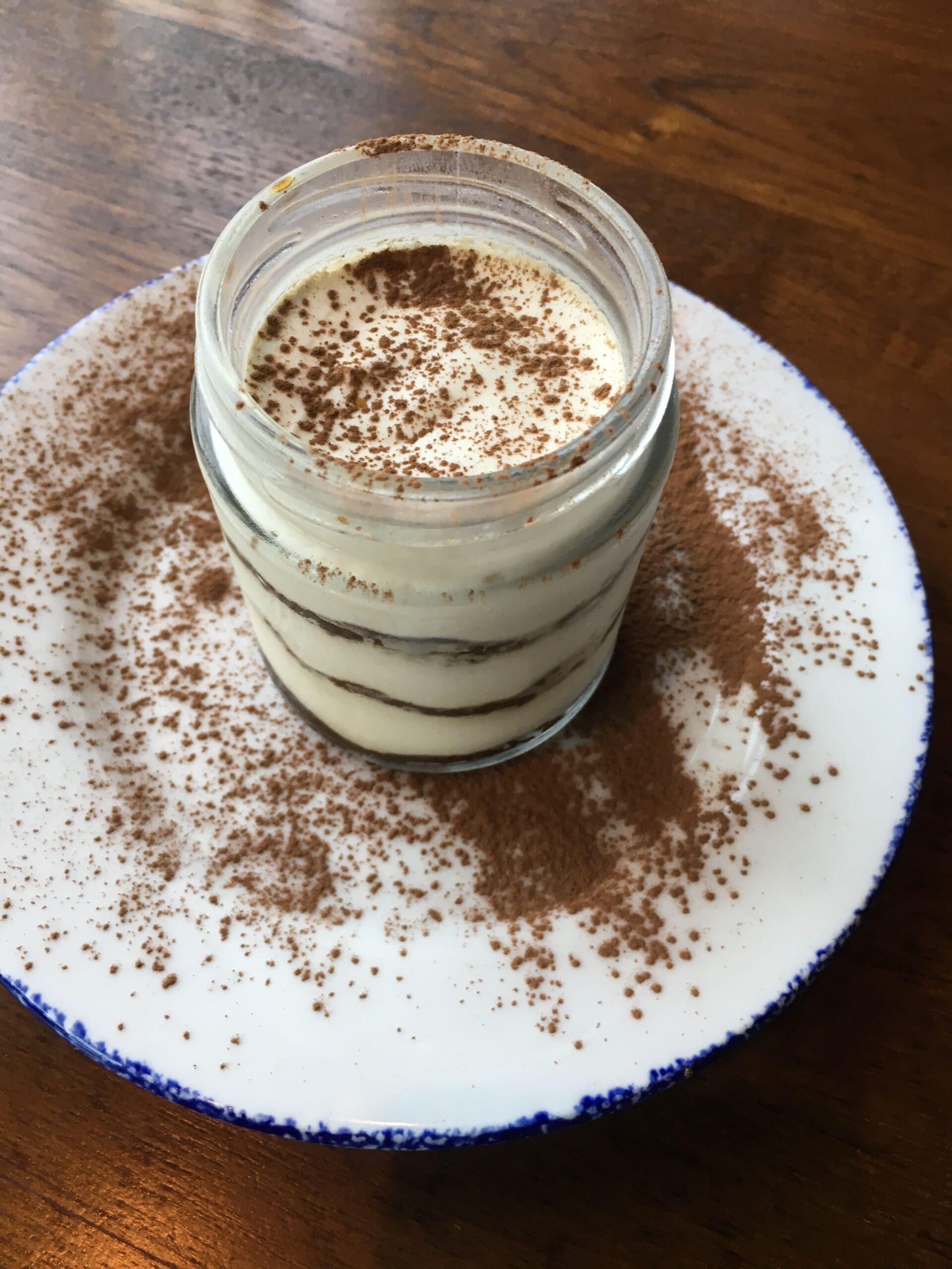 tiramisu in italy food bucket list in mason jar